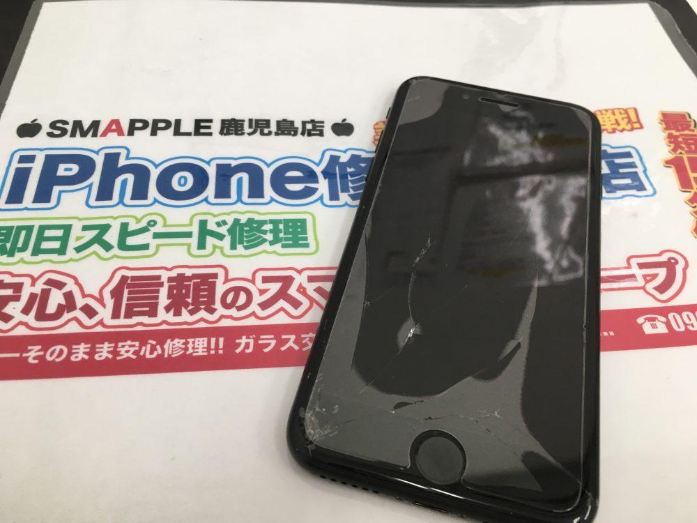 水没修理前のiPhone