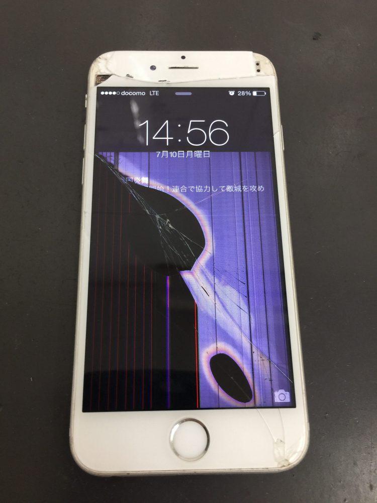 液漏れでタッチが出来ないiPhone6S