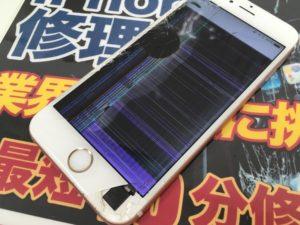 液晶が割れたiPhone6sの画像