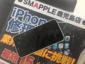iPhone5cの画面割れ画像