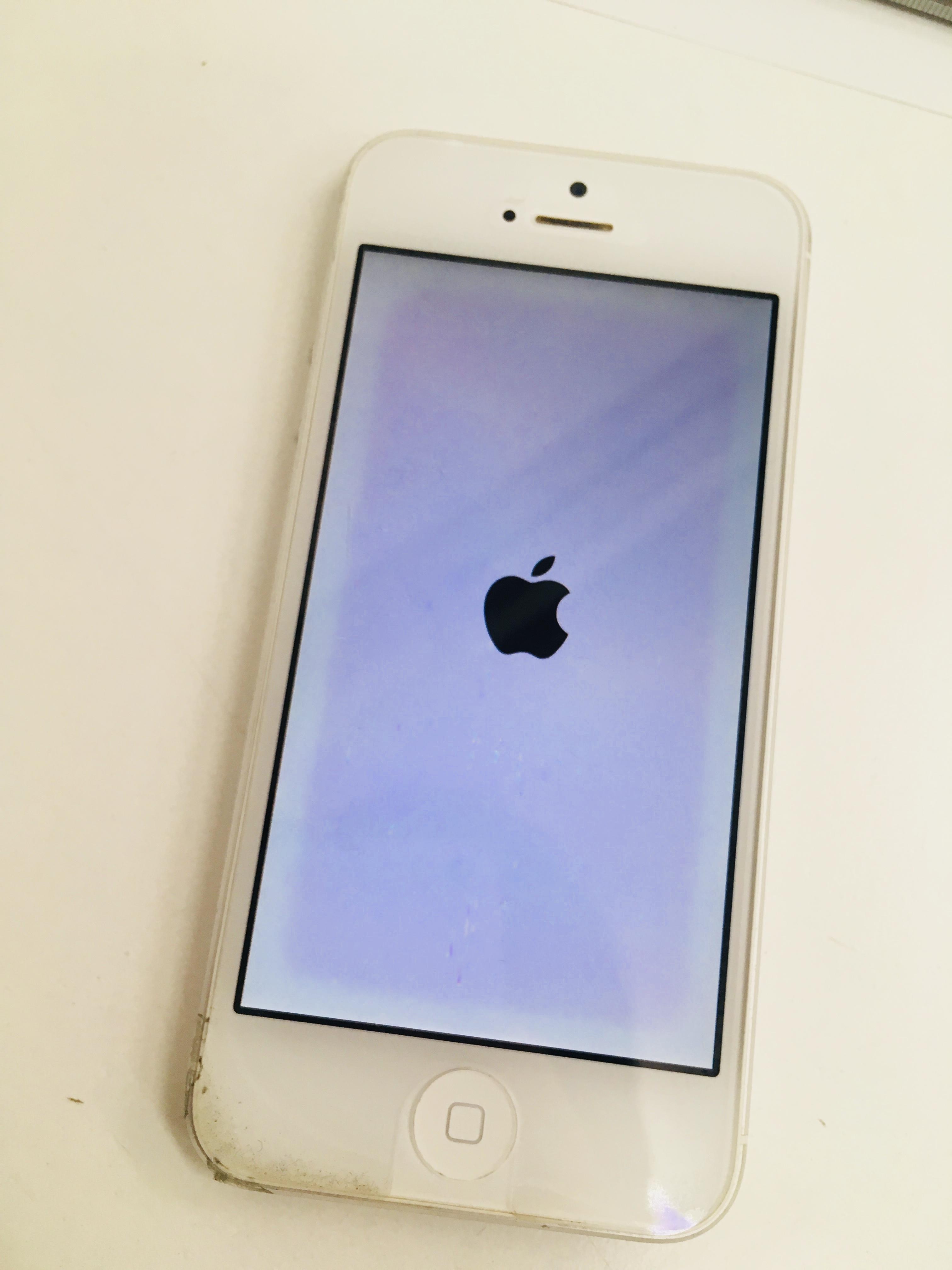 液晶が劣化したiPhone5s