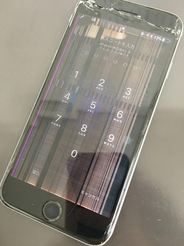 液晶とガラスが割れてしまったiPhone6s
