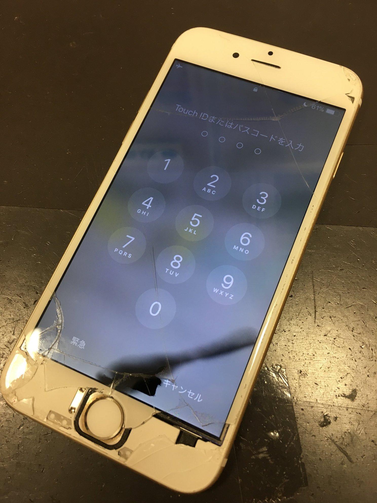 ガラス・液晶が割れたiPhone6