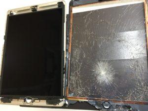 ガラス交換修理中のiPad Air
