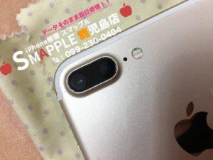 カメラレンズを交換した後のiPhone7Plus