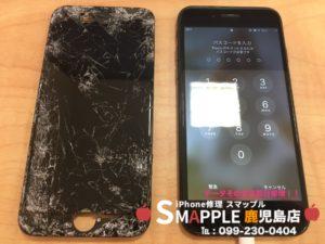 画面割れ修理後のiPhone7