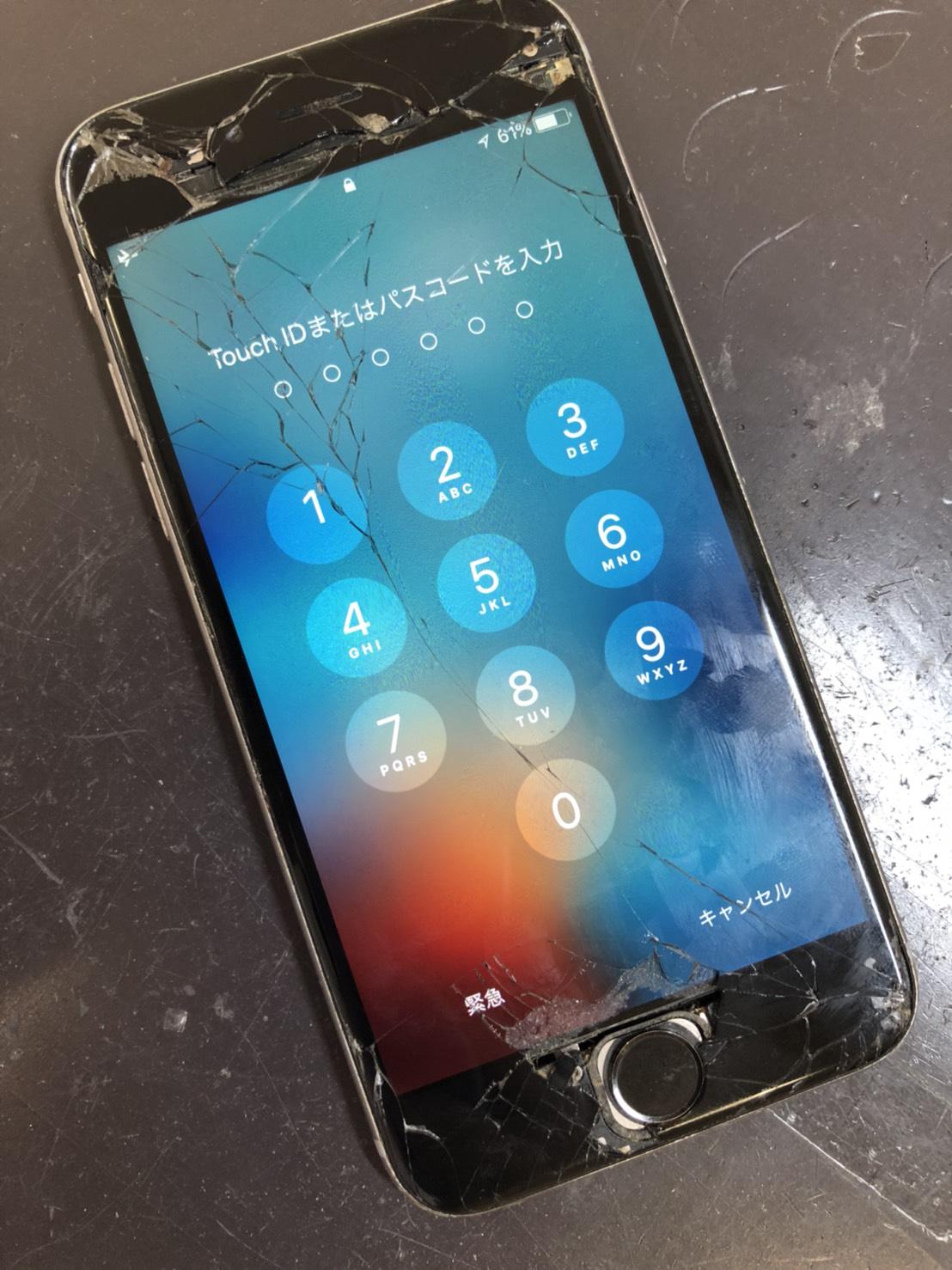 iPhone6の破損