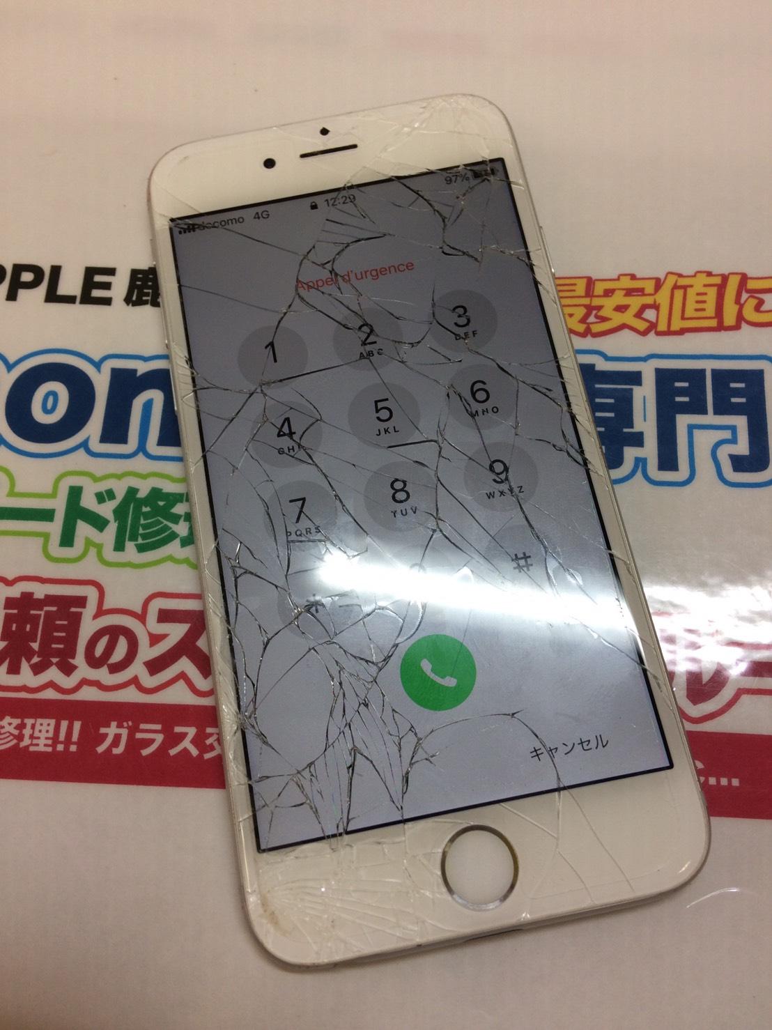 iPhone6 割れ画面