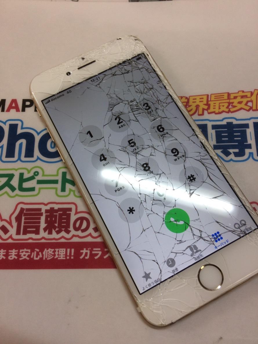 iPhone6割れパネル
