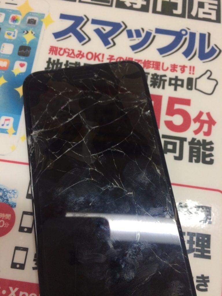 iPhone7画面修理前