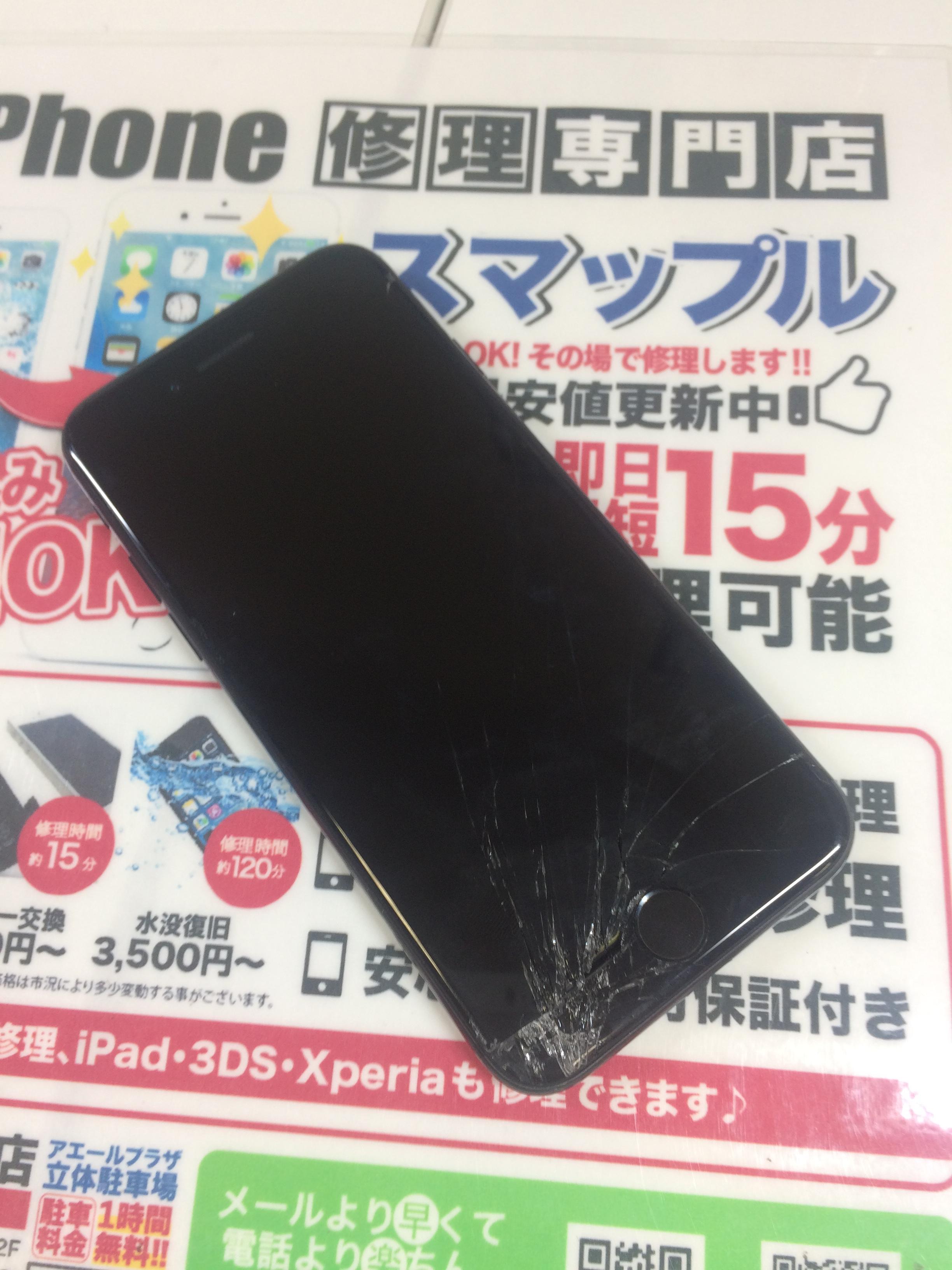 壊れたiPhone7画像