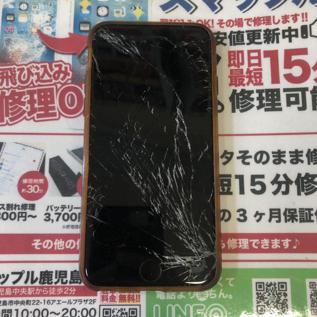 割れたiPhone6画像