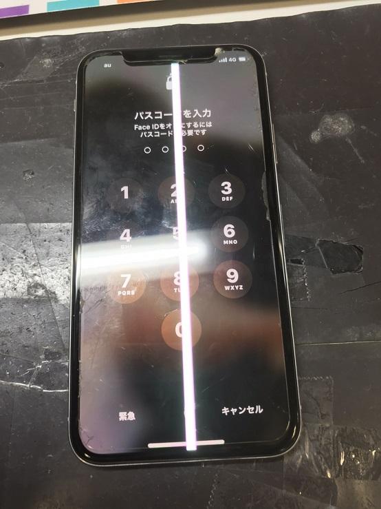 iPhoneX破損画像