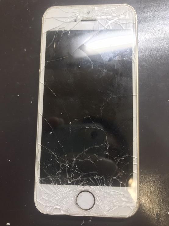 壊れたiPhoneSEの