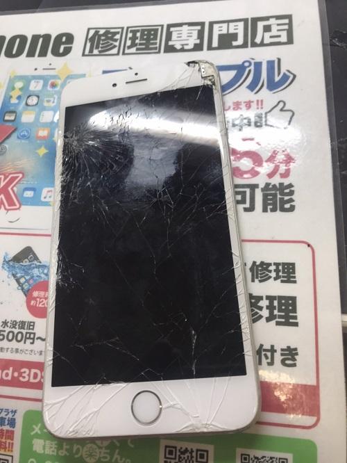 修理前iPhone6Plus画像