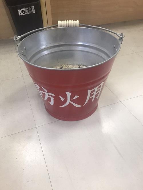 店内防火グッズ