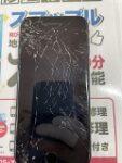 画面がバッキバキになってもピッカピカにします(^^)今回の修理は画面が完全に映らなくなった【iPhone8】の画面修理!